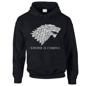 Game of Thrones Hoodie Winter is coming schwarz silber