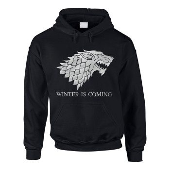 Game of Thrones Hoodie Winter is coming schwarz silber