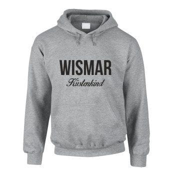 Wismar Küstenkind - Herren Hoodie - grau-schwarz