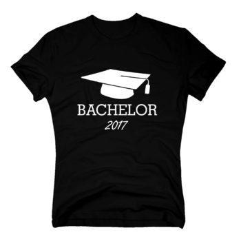 Bachelor 2017 - Herren Hoodie mit Doktorhut - schwarz-weiß
