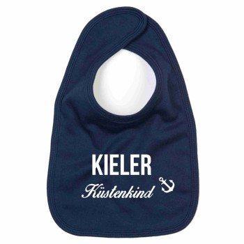 Kieler Küstenkind - Baby Lätzchen - dunkelblau-weiß
