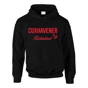 Cuxhavener Küstenkind - Kinder Hoodie - schwarz-rot