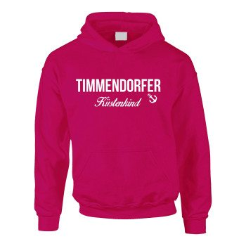 Timmendorfer Küstenkind - Kinder Hoodie - pink-weiß
