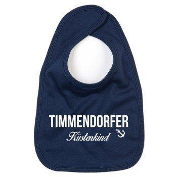 Timmendorfer Küstenkind - Baby Lätzchen - dunkelblau-weiß