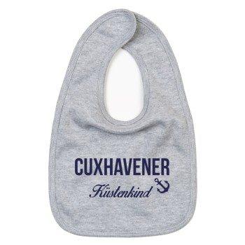 Cuxhavener Küstenkind - Baby Lätzchen - grau-blau
