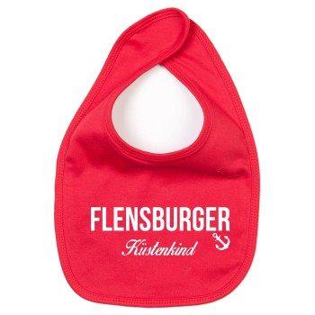 Flensburger Küstenkind - Baby Lätzchen - rot-weiß