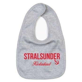 Stralsunder Küstenkind - Baby Lätzchen - grau-rot