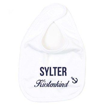 Sylter Küstenkind - Baby Lätzchen - weiß-blau