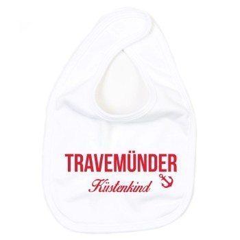 Travemünder Küstenkind - Baby Lätzchen - weiß-rot