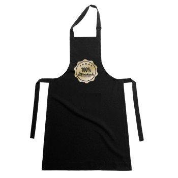 100% Sternekoch - Kochschürze - schwarz