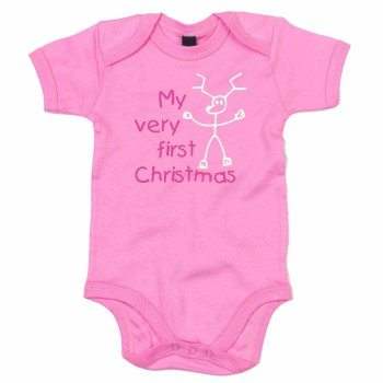 My very first Christmas - Baby Body - rosa