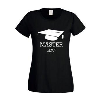 Damen T-Shirt Abschluss Master 2017