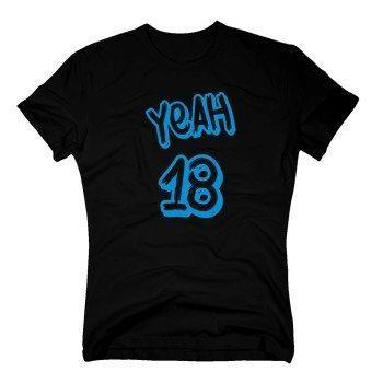 Yeah 18 - Herren T-Shirt - schwarz-blau