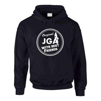 Original JGA with best Friends - Herren Hoodie - schwarz-weiß