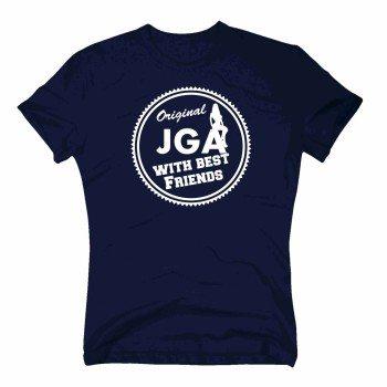 Original JGA with best Friend - Herren T-Shirt - dunkelblau-weiß