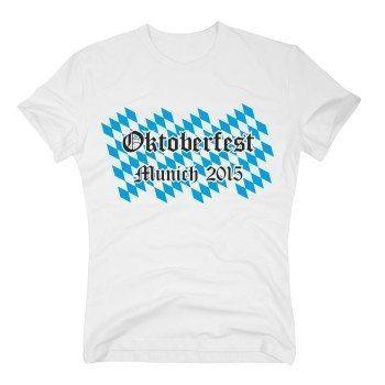 Oktoberfest Munich 2015 - Herren T-Shirt - weiß-blau