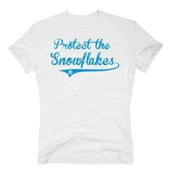 Protect the Snowflakes - Herren T-Shirt - weiß-blau