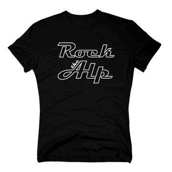 Rock the Alp - Herren T-Shirt - schwarz-weiß