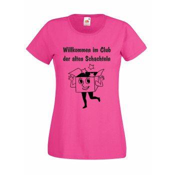 Willkommen im Club der alten Schachteln - Damen T-Shirt - pink
