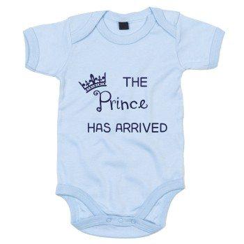 The Prince has arrived - Baby Body - hellblau-blau