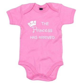 The Princess has arrived - Baby Body - rosa-weiß