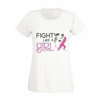 Fight like a Girl - Damen T-Shirt - weiß