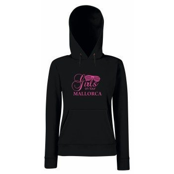 Girls on tour Mallorca - Damen Hoodie - schwarz-pink