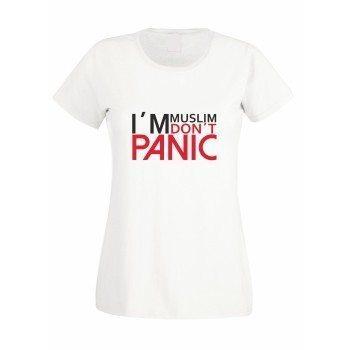 I'm Muslim don't panic - Damen T-Shirt - weiß