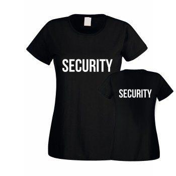 Security - Damen T-Shirt beidseitig bedruckt - schwarz
