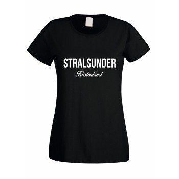 Stralsunder Küstenkind - Damen T-Shirt - schwarz