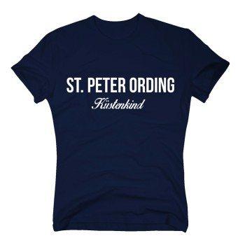 St. Peter Ording Küstenkind - Herren T-Shirt - dunkelblau-weiß