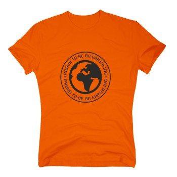 Proud to be an Earthling - Herren T-Shirt - orange