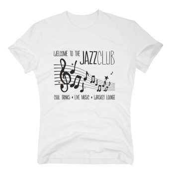 Welcome to the Jazz Club. Cool Drinks, Live Music, Whiskey Lounge - Herren T-Shirt - weiß