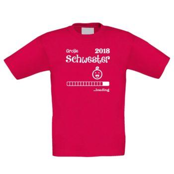 Kinder T-Shirt - Große Schwester 2018 ...loading