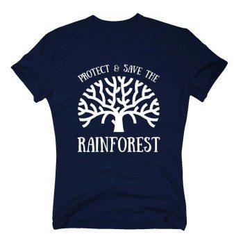 Protect & Save the Rainforest - Herren T-Shirt - dunkelblau