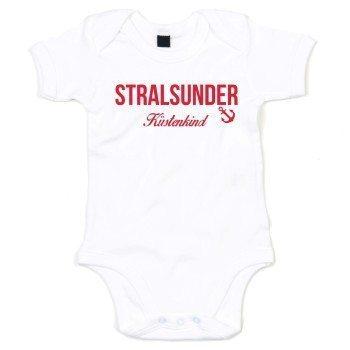 Stralsunder Küstenkind - Baby Body - weiß-rot