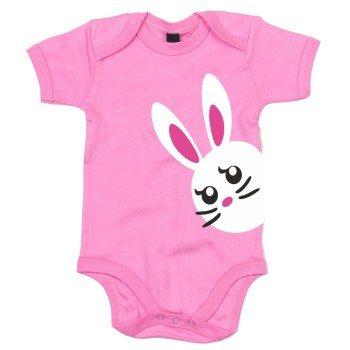 Baby Body mit Häschen - pink
