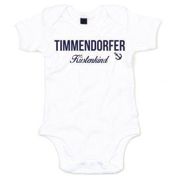 Timmendorfer Küstenkind - Baby Body - weiß-dunkelblau