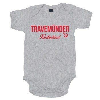 Timmendorfer Küstenkind - Baby Body - grau-rot