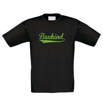 Baukind - Kinder T-Shirt - schwarz-grün