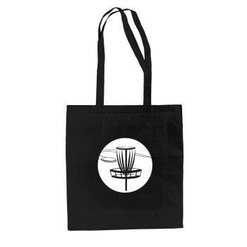 Disc Golf Jutebeutel - schwarz-weiß