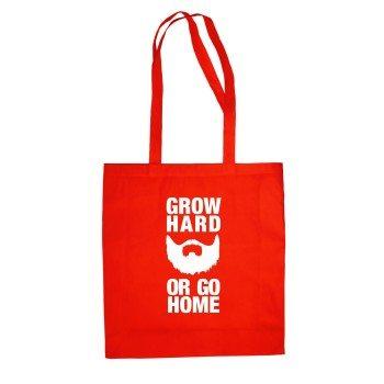 Grow Hard or go Home - Jutebeutel - rot