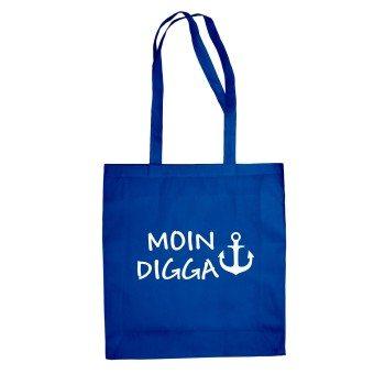 Moin Digga - Jutebeutel - blau
