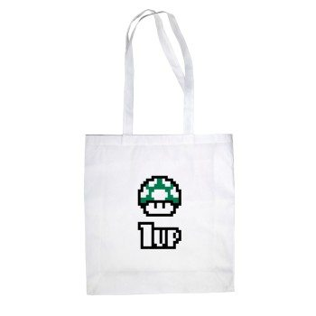 1UP - Jutebeutel - weiß