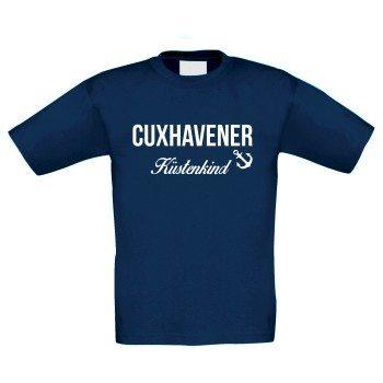 Cuxhavener Küstenkind - Kinder T-Shirt - dunkelblau-weiß