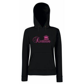 Sweet Sixteen - Damen Hoodie - schwarz-pink