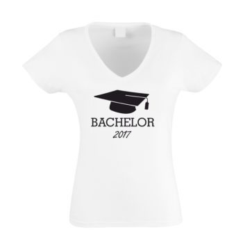 damen t-shirt v-neck bachelor 2017