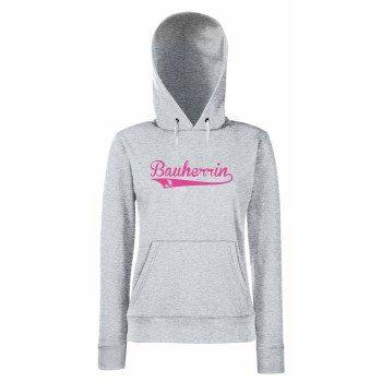 Bauherrin - Damem Hoodie - grau-pink