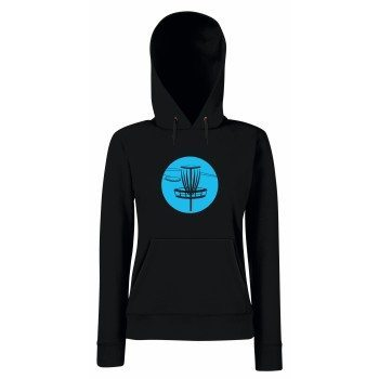 Disc Golf - Damen Hoodie - schwarz-blau