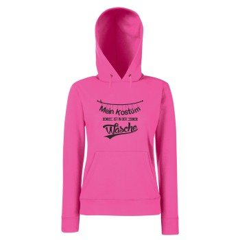 Mein Köstum ist in der Wäsche - Damen Hoodie - pink-schwarz